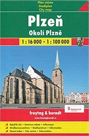 PILZNO PLZEN CZECHY plan miasta papierowy 1:16 000 FREYTAG & BERNDT 2016