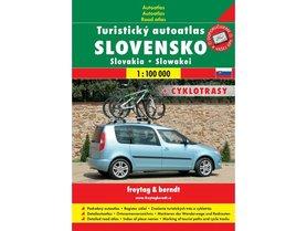 SŁOWACJA atlas turystyczny samochodowy i rowerowy 1:100 000 FREYTAG & BERNDT