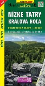 NIŻNE TATRY Kráľova hoľa mapa turystyczna 1:50 000 SHOCART 2017