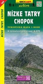 NIŻNE TATRY Chopok mapa turystyczna 1:50 000 SHOCART 2017