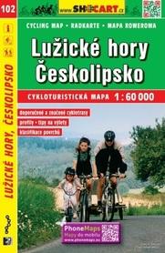 102 GÓRY ŁUŻYCKIE CESKOLIPSKO mapa turystyczna rowerowa 1:60 000 SHOCART