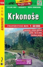 104 KARKONOSZE CZECHY mapa turystyczna rowerowa 1:60 000 SHOCART