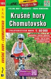 105 RUDAWY Krušné hory Chomutovsko CZECHY NIEMCY mapa turystyczna rowerowa 1:60 000 SHOCART