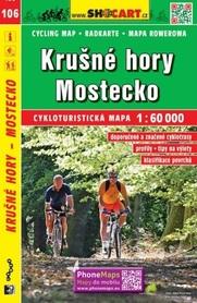 106 RUDAWY Krušné hory Mostecko CZECHY mapa turystyczna rowerowa 1:60 000 SHOCART