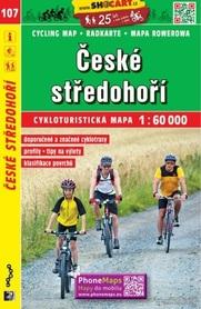 107 CZESKIE ŚREDNIOGÓRZE CZECHY mapa turystyczna rowerowa 1:60 000 SHOCART