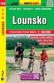 108 LOUNY Lounsko CZECHY mapa turystyczna rowerowa 1:60 000 SHOCART