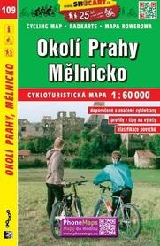 109 PRAGA OKOLICE MIELNIK CZECHY mapa turystyczna rowerowa 1:60 000 SHOCART