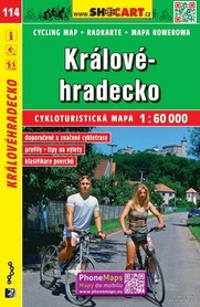 114 KRAJ HRADECKI KRALOVEHRADECKO CZECHY mapa turystyczna rowerowa 1:60 000 SHOCART