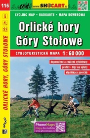 116 GÓRY ORLICKIE GÓRY STOŁOWE CZECHY mapa turystyczna rowerowa 1:60 000 SHOCART