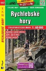117 GÓRY RYCHLEBSKIE CZECHY mapa turystyczna rowerowa 1:60 000 SHOCART