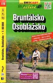 119 BRUNTALSKO OSOBLAZSKO Bruntal Osobłoga CZECHY mapa turystyczna rowerowa 1:60 000 SHOCART