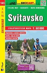143 SVITAVSKO Svitavy CZECHY mapa turystyczna rowerowa 1:60 000 SHOCART