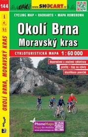 144 BRNO I OKOLICE MORAWSKI KRAS CZECHY mapa turystyczna rowerowa 1:60 000 SHOCART