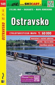 149 OSTRAVSKO OSTRAWA CZECHY mapa turystyczna rowerowa 1:60 000 SHOCART