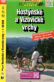 152 GÓRY HOSTYŃSKIE I WIZOWICKIE CZECHY mapa turystyczna rowerowa 1:60 000 SHOCART