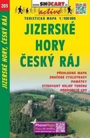203 GÓRY IZERSKIE CZESKI RAJ CZECHY mapa turystyczna 1:100 000 SHOCART