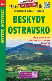 223 BESKIDY OSTRAWA OSTRAVSKO CZECHY mapa turystyczna 1:100 000 SHOCART