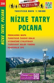 230 NIŻNE TATRY POLANA CZECHY mapa turystyczna 1:100 000 SHOCART