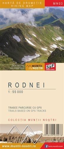 MUNTI RODNEI Góry Rodniańskie mapa turystyczna 1:55 000 S&F