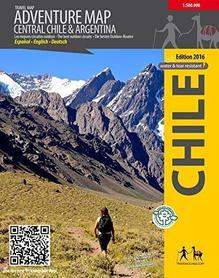 ADVENTURE MAP CENTRAL CHILE & ARGENTYNA mapa trekkingowa COMPASS CHILE
