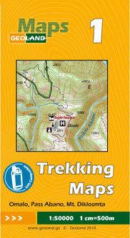 GRUZJA nr 1 OMALO PASS ABANO MT. DIKLOSMTA mapa trekkingowa 1:50 000 GEOLAND