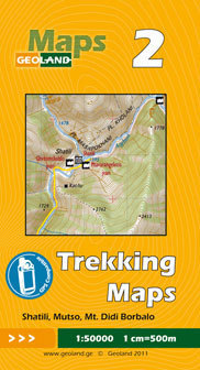 GRUZJA nr 2 SHATILI MUTSO MT. DIDI BORBALO mapa trekkingowa 1:50 000 GEOLAND