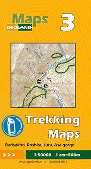 GRUZJA nr 3 BARISAKHO ROSHKA JUTA ASA GORGE mapa trekkingowa 1:50 000 GEOLAND
