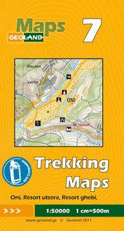 GRUZJA nr 7 ONI RESORT UTSERA RESORT GHEBI mapa trekkingowa 1:50 000 GEOLAND