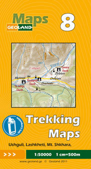 GRUZJA nr 8 USHGULI LASHKHETI MT. SHKHARA mapa trekkingowa 1:50 000 GEOLAND