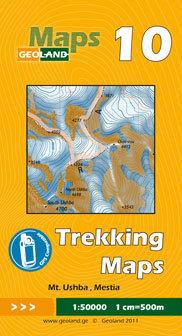 GRUZJA nr 10 MT. USHBA MESTIA mapa trekkingowa 1:50 000 GEOLAND