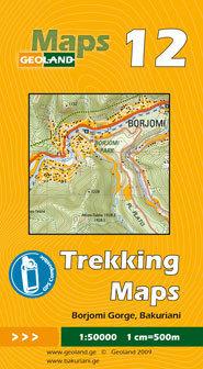 GRUZJA nr 12 BORJOMI GORGE BAKURIANI mapa trekkingowa 1:50 000 GEOLAND