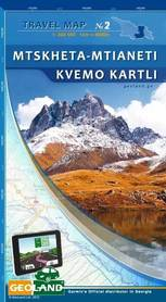MTSKHETA-MTIANETI KVEMO KARTLI GRUZJA mapa turystyczno-samochodowa 1:200 000 GEOLAND