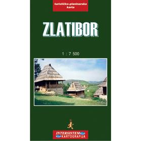 ZLATIBOR SERBIA plan miasta i mapa turystyczno-drogowa 1:7 500 IS