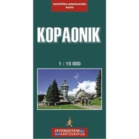 KOPAONIK SERBIA KOSOWO mapa turystyczno-drogowa 1:15 000 IS