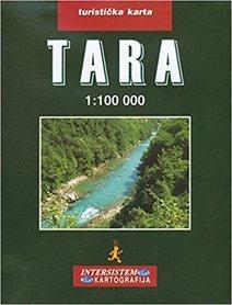 RZEKA TARA CZARNOGÓRA mapa turystyczno-drogowa 1:100 000 IS