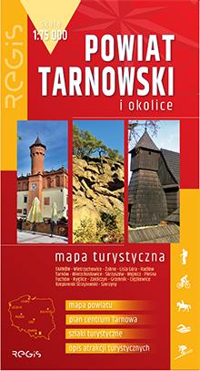 TARNÓW I POWIAT TARNOWSKI mapa turystyczna 1:75 000 wyd. REGIS