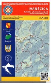IVANSCICA mapa turystyczna 1:25 000 wyd. HGSS