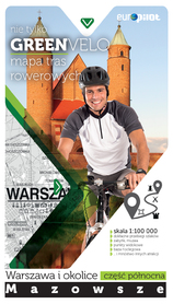 NIE TYLKO GREEN VELO WARSZAWA I OKOLICE PÓŁNOC mapa rowerowa EUROPILOT
