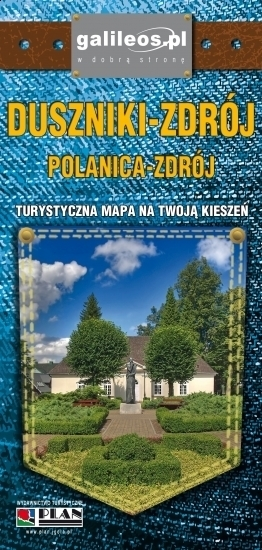 DUSZNIKI-ZDRÓJ POLANICA-ZDRÓJ kieszonkowa mapa laminowana STUDIO PLAN