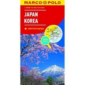 JAPONIA KOREA mapa samochodowa 1:2 000 000 MARCO POLO ZOOM