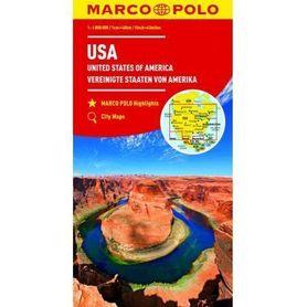 USA mapa samochodowa 1:4 000 000 MARCO POLO ZOOM