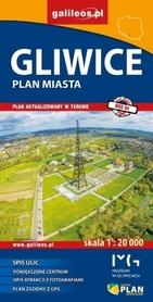 GLIWICE plan miasta 1:20 000 STUDIO PLAN 2017