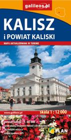 KALISZ I POWIAT KALISKI plan miasta / mapa turystyczna 1:12 000 / 1:60 000 STUDIO PLAN