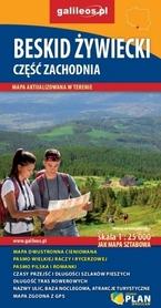 BESKID ŻYWIECKI CZ. ZACH mapa turystyczna 1:25 000 STUDIO PLAN
