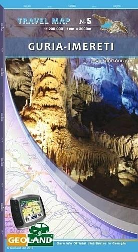 GURIA - IMERETI GRUZJA mapa turystyczno-samochodowa 1:200 000 GEOLAND