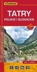 TATRY POLSKIE I SŁOWACKIE mapa turystyczna 1:50 000 COMPASS 2017