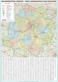 WOJEWÓDZTWO ŁÓDZKIE MAGNETYCZNA mapa ścienna administracyjno drogowa 1:200 000 EKOGRAF