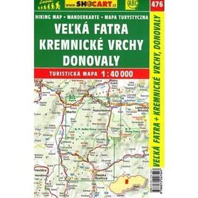 WIELKA FATRA KREMNICKE VRCHY DONOVALY mapa turystyczna 1:40 000 SHOCART 2017