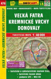 WIELKA FATRA KREMNICKE VRCHY DONOVALY mapa turystyczna 1:40 000 SHOCART