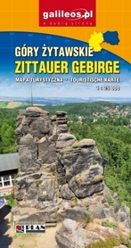 GÓRY ŻYTAWSKIE ZITTAUER GEBIRGE mapa turystyczna 1:25 000 STUDIO PLAN